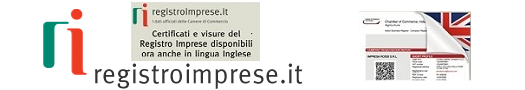 Apre il mini-Sito di registroimprese.it relativo ai documenti camerali in lingua inglese - Link: https://www.registroimprese.it/-/il-registro-imprese-parla-inglese?redirect=http%3A%2F%2Fwww.registroimprese.it%2Fnews%3Fp_p_id%3D101_INSTANCE_QAa3BPCij8L9%26p_p_lifecycle%3D0%26p_p_state%3Dnormal%26p_p_mode%3Dview%26p_p_col_id%3D_118_INSTANCE_RFFNWcAY6O5